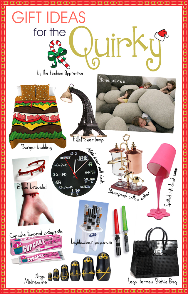 Gift ideas for the quirky by the fashion apprentice